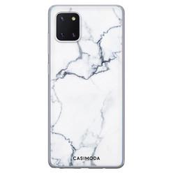 Casimoda Samsung Galaxy Note 10 Lite siliconen hoesje - Marmer grijs