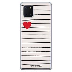 Casimoda Samsung Galaxy Note 10 Lite siliconen hoesje - Heart queen