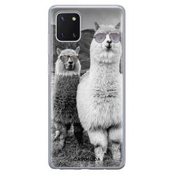 Casimoda Samsung Galaxy Note 10 Lite siliconen hoesje - Llama hipster