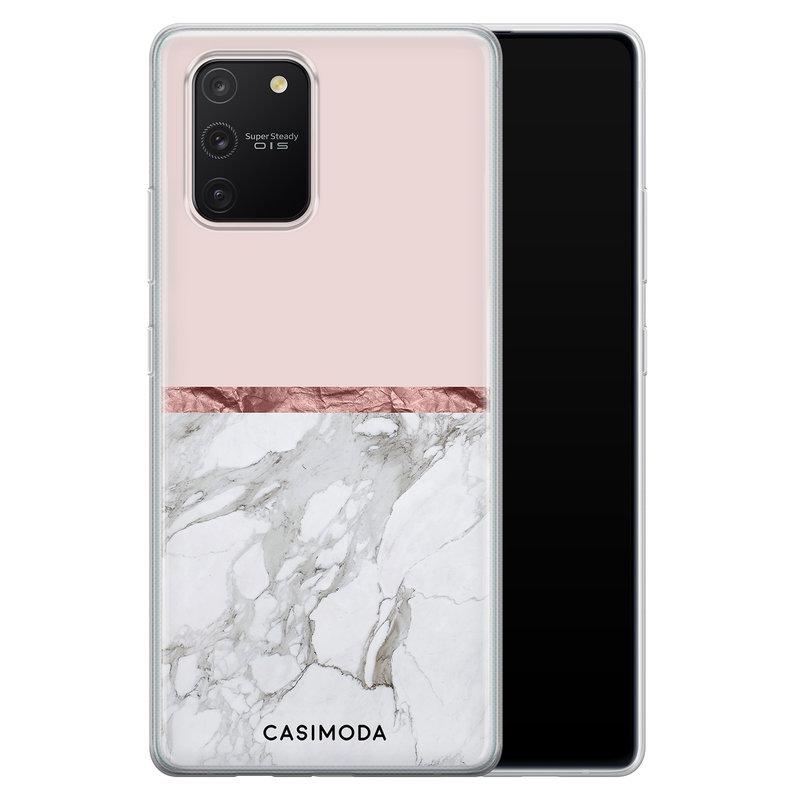 Casimoda Samsung Galaxy S10 Lite siliconen telefoonhoesje - Rose all day