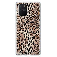 Casimoda Samsung Galaxy S10 Lite siliconen hoesje - Golden wildcat