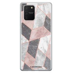 Casimoda Samsung Galaxy S10 Lite siliconen hoesje - Stone grid