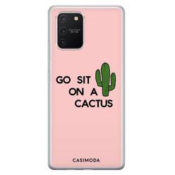 Casimoda Samsung Galaxy S10 Lite siliconen hoesje - Go sit on a cactus