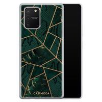 Casimoda Samsung Galaxy S10 Lite siliconen hoesje - Abstract groen