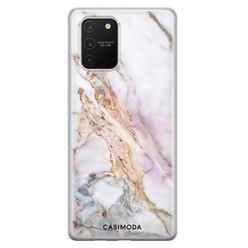 Casimoda Samsung Galaxy S10 Lite siliconen hoesje - Parelmoer marmer