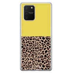 Casimoda Samsung Galaxy S10 Lite siliconen hoesje - Luipaard geel