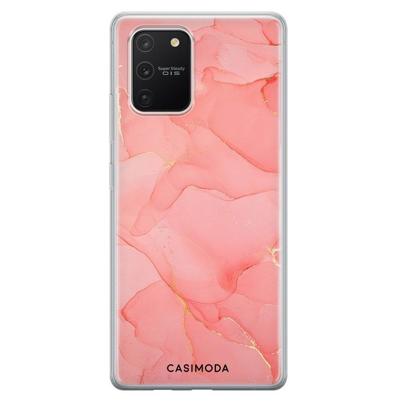 Casimoda Samsung Galaxy S10 Lite siliconen hoesje - Marmer roze