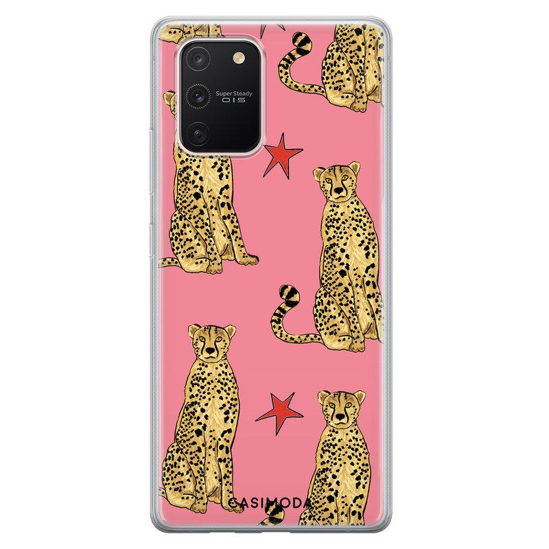 Casimoda Samsung Galaxy S10 Lite siliconen hoesje - The pink leopard