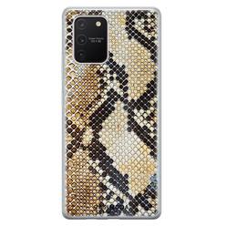 Casimoda Samsung Galaxy S10 Lite siliconen hoesje - Golden snake