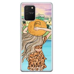 Casimoda Samsung Galaxy S10 Lite siliconen hoesje - Sunset girl