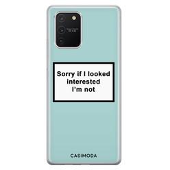 Casimoda Samsung Galaxy S10 Lite siliconen hoesje - Not interested