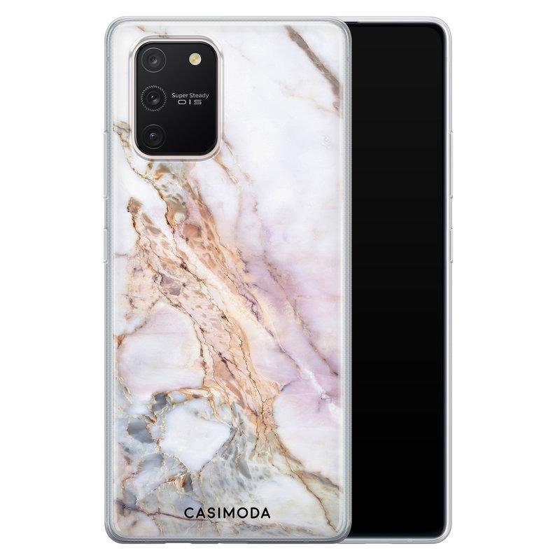 Casimoda Samsung Galaxy S10 Lite siliconen telefoonhoesje - Parelmoer marmer