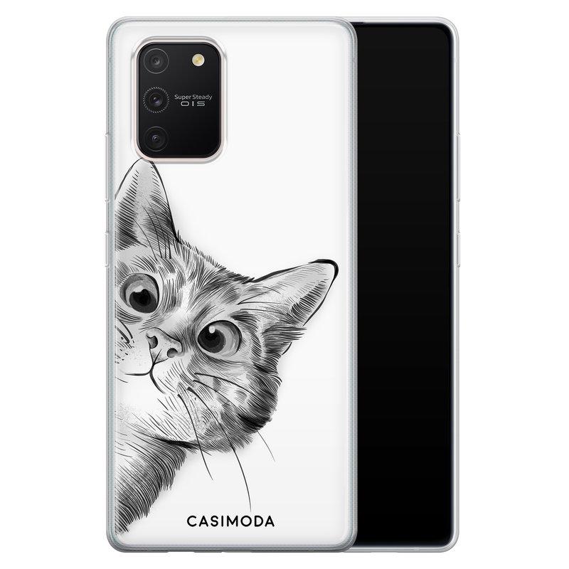 Casimoda Samsung Galaxy S10 Lite siliconen hoesje - Peekaboo