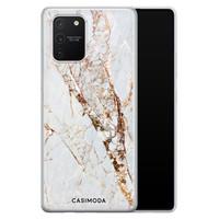 Casimoda Samsung Galaxy S10 Lite siliconen hoesje - Marmer goud