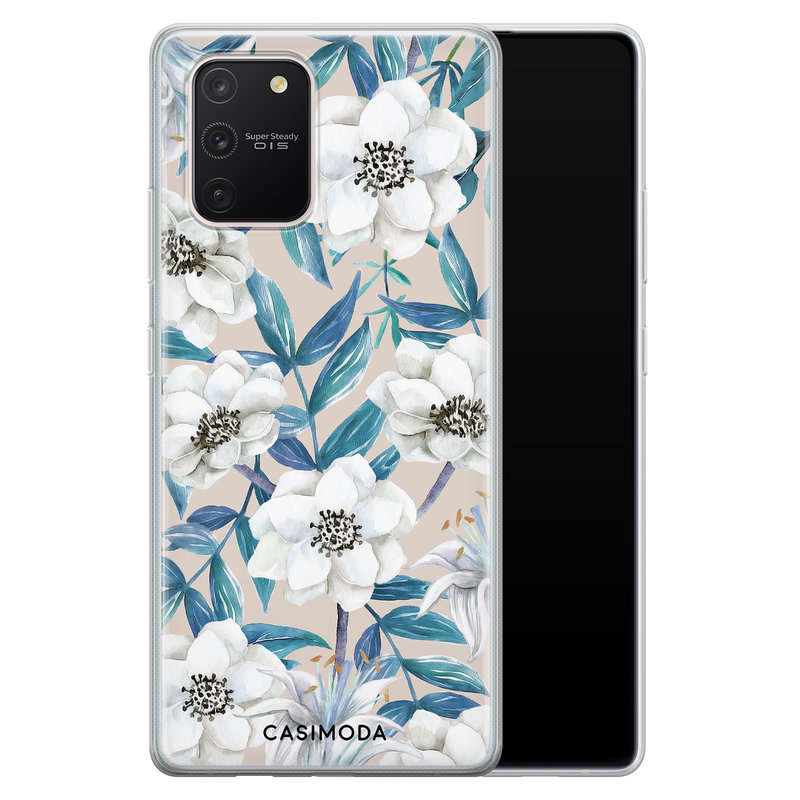 Casimoda Samsung Galaxy S10 Lite siliconen telefoonhoesje - Touch of flowers