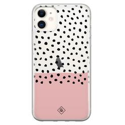 Casimoda iPhone 11 transparant hoesje - Pink spots