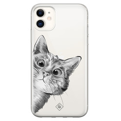 Casimoda iPhone 11 transparant hoesje - Peekaboo