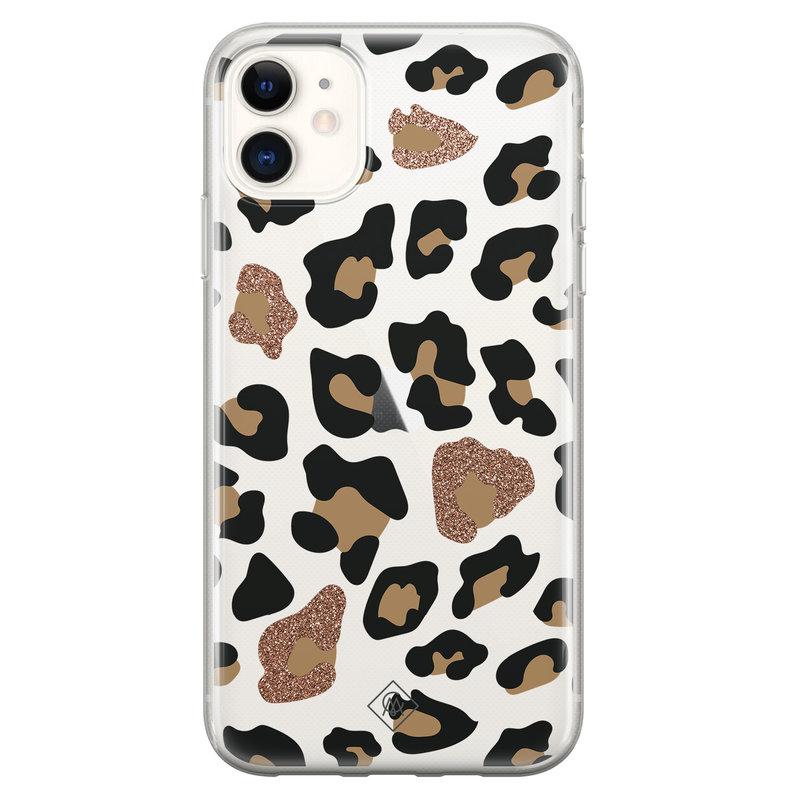 Casimoda iPhone 11 transparant hoesje - Leopard
