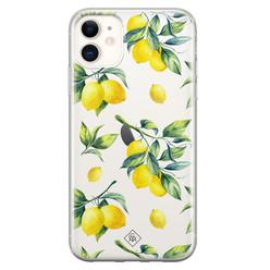 Casimoda iPhone 11 transparant hoesje - Lemons