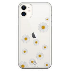 Casimoda iPhone 11 transparant hoesje - Daisies