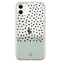 Casimoda iPhone 11 transparant hoesje - Blue spots