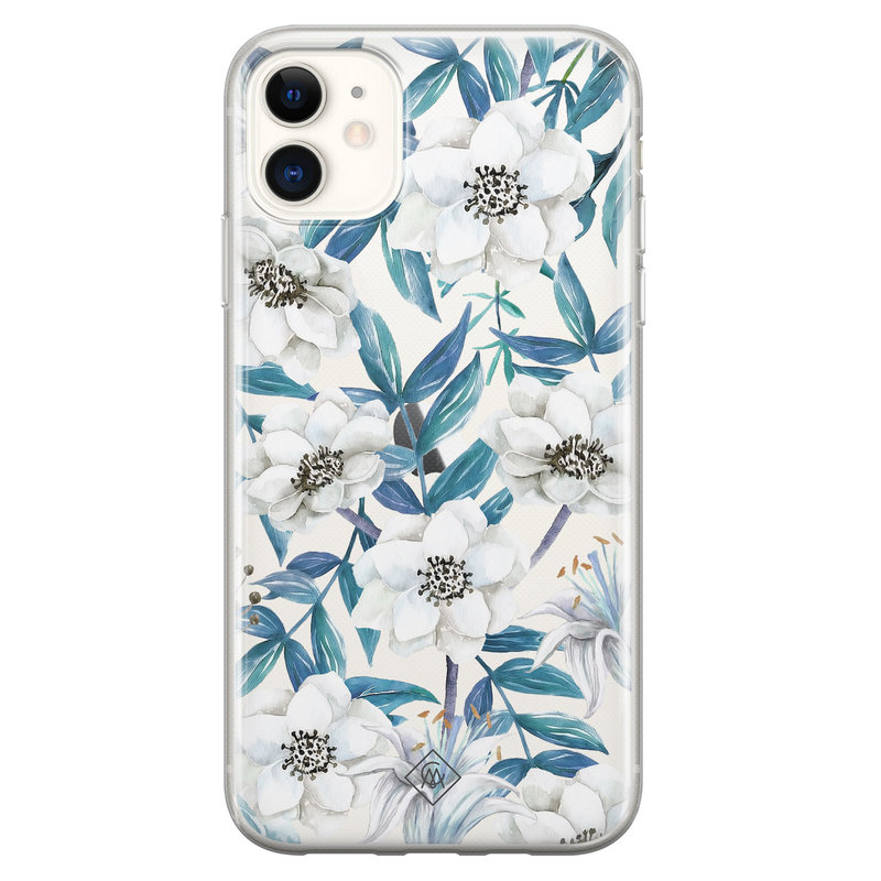 Casimoda iPhone 11 transparant hoesje - Touch of flowers
