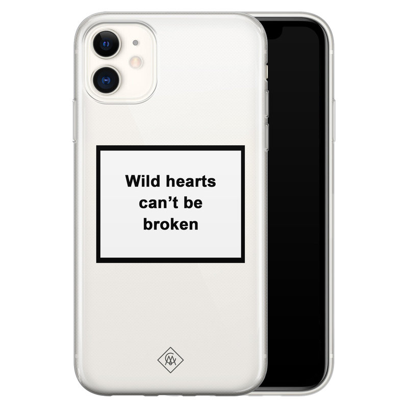 Casimoda iPhone 11 transparant hoesje - Wild hearts