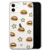 Casimoda iPhone 11 transparant hoesje - Leo kisses