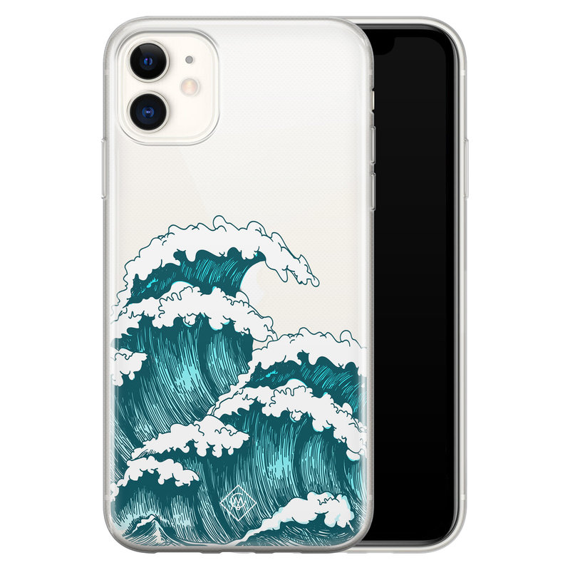 Casimoda iPhone 11 transparant hoesje - Wave