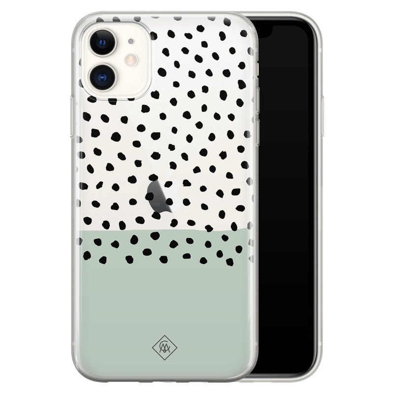 Casimoda iPhone 11 transparant hoesje - Blue spots