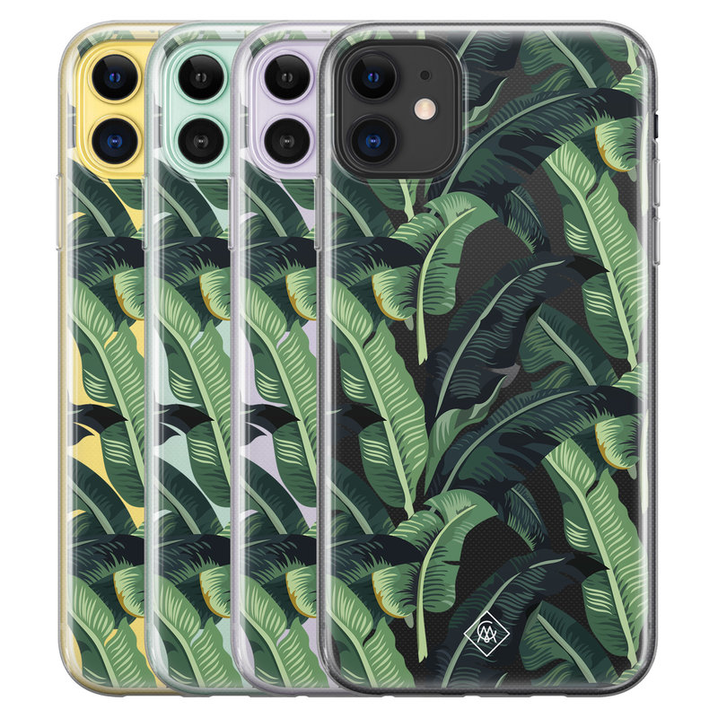 Casimoda iPhone 11 transparant hoesje - Jungle
