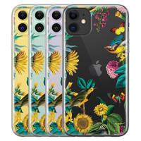 Casimoda iPhone 11 transparant hoesje - Sunflowers