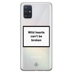 Casimoda Samsung Galaxy A51 transparant hoesje - Wild hearts