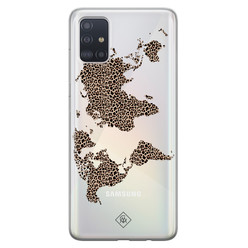 Casimoda Samsung Galaxy A51 transparant hoesje - Wild world