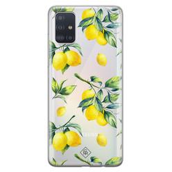 Casimoda Samsung Galaxy A51 transparant hoesje - Lemons