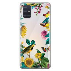Casimoda Samsung Galaxy A51 transparant hoesje - Sunflowers