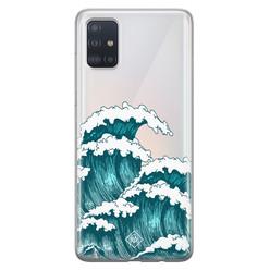 Casimoda Samsung Galaxy A51 transparant hoesje - Wave