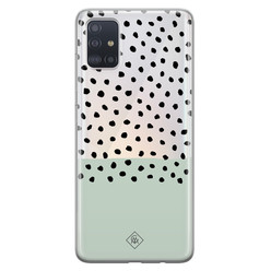 Casimoda Samsung Galaxy A51 transparant hoesje - Blue spots