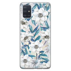 Casimoda Samsung Galaxy A51 transparant hoesje - Touch of flowers