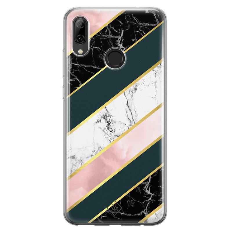 Casimoda Huawei P Smart 2019 siliconen hoesje - Marble stripes