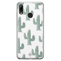 Casimoda Huawei P Smart 2019 siliconen telefoonhoesje - Cactus print
