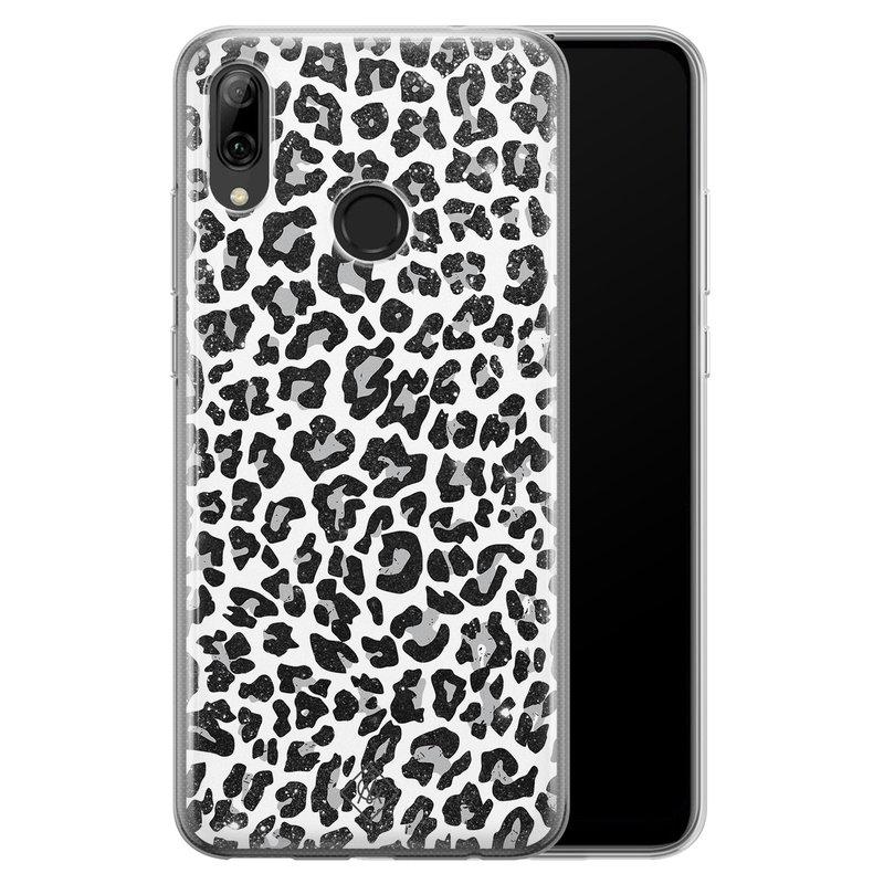 Casimoda Huawei P Smart 2019 siliconen telefoonhoesje - Luipaard grijs