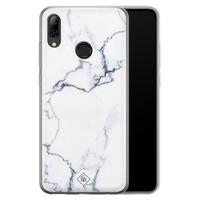 Casimoda Huawei P Smart 2019 siliconen hoesje - Marmer grijs