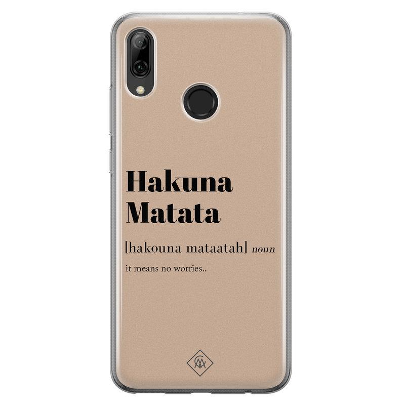 Casimoda Huawei P Smart 2019 siliconen hoesje - Hakuna matata