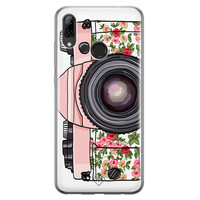 Casimoda Huawei P Smart 2019 siliconen telefoonhoesje - Hippie camera