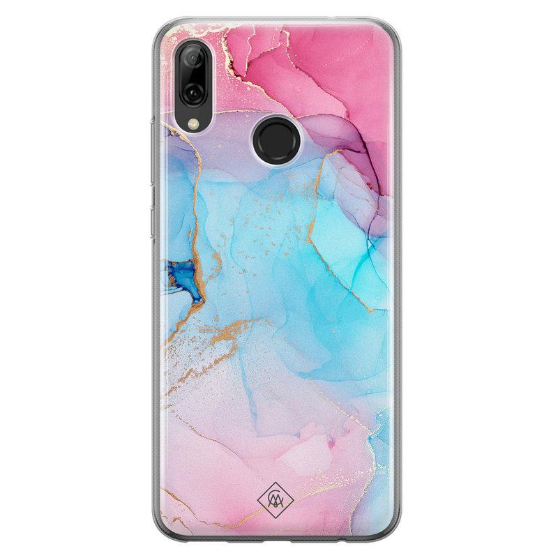 Casimoda Huawei P Smart 2019 siliconen hoesje - Marble colorbomb