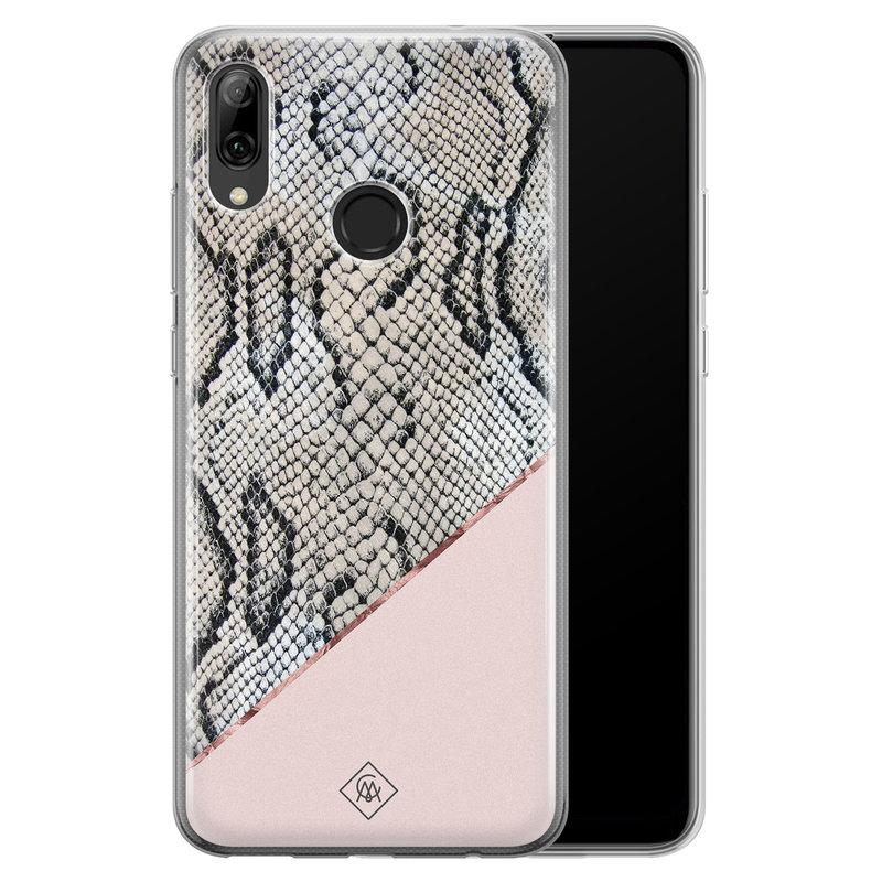 Casimoda Huawei P Smart 2019 siliconen hoesje - Snake print