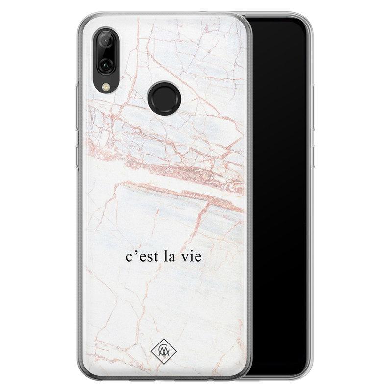 Casimoda Huawei P Smart 2019 siliconen telefoonhoesje - C'est la vie