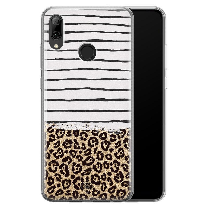 Casimoda Huawei P Smart 2019 siliconen telefoonhoesje - Leopard lines