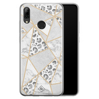 Casimoda Huawei P Smart 2019 siliconen telefoonhoesje - Stone & leopard print